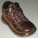 bronze plated shoe