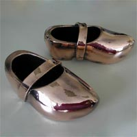 silver plated shoe