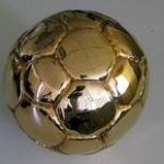 soccer ball gold plated