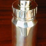 baby bottle silver plated