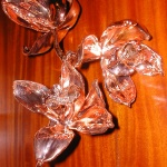 Bronze plated flower