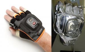 verzilverde handschoen